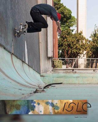 Isle Skateboarding Teamrider Sylvain Tognelli