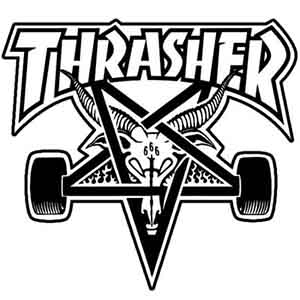 A frequently used graphic: The Thrasher Skate Goat